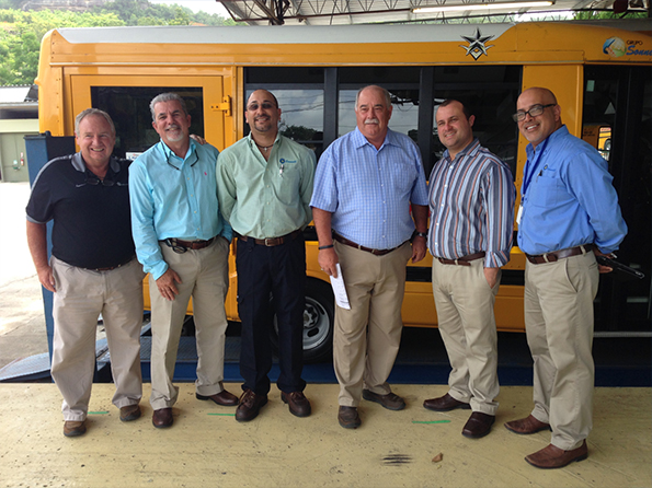 Trans Tech President John Phraner and company principal John Corr visit Transporte Sonnell in Puerto Rico